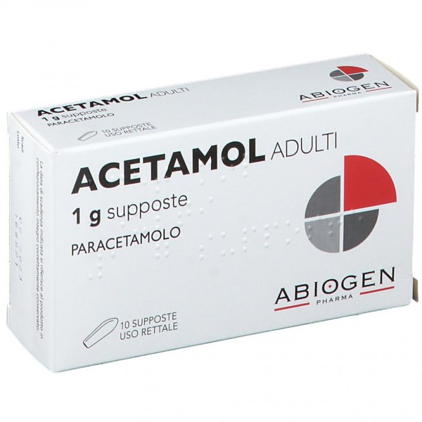 Acetamol 1 gr Adulti Paracetamolo 10 Supposte