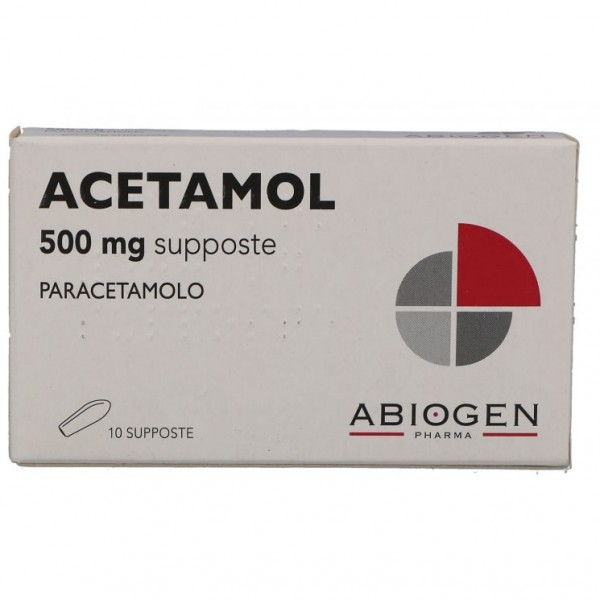 Acetamol 500 mg Adulti Paracetamolo 10 Supposte