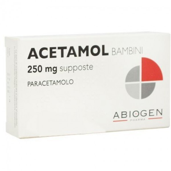 Acetamol 250 mg Bambini Paracetamolo 10 Supposte