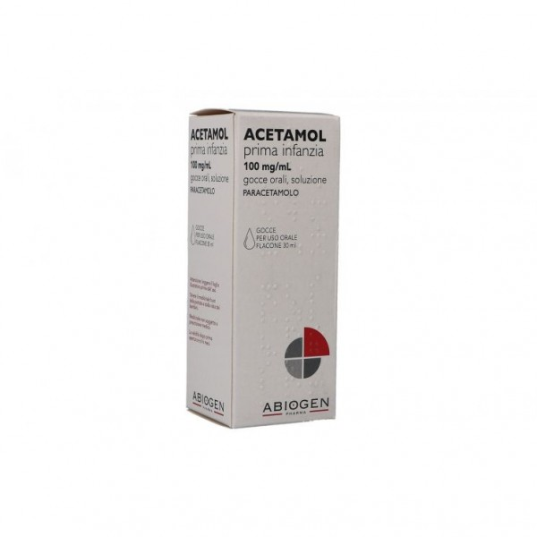 Acetamol Prima Infanzia 100  mg/ ml Paracetamolo Gocce 30 ml