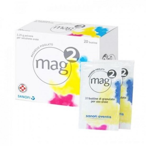 Mag 2 Bustine con 2,25g Magnesio Pidolato Aroma Limone 20 Bustine