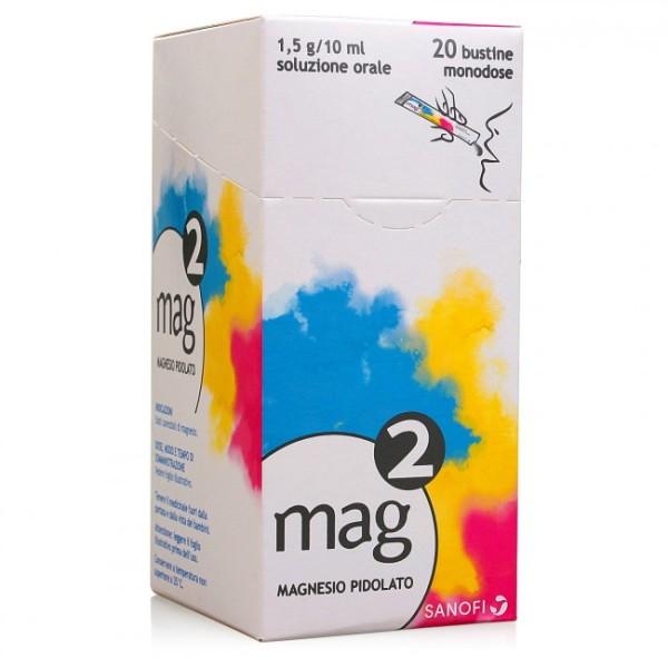 Mag 2 con 1,5g Magnesio Pidolato Aroma Arancia 20 Bustine Orosolubili