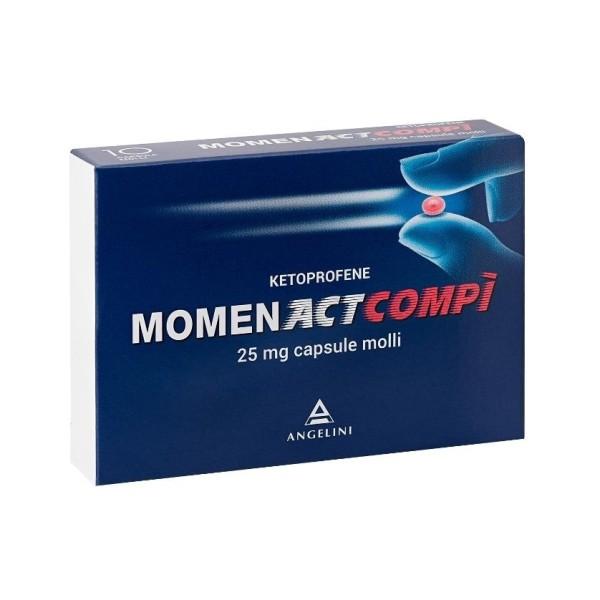 MomenactCompì 25 mg Ketoprofene Antinfiammatorio 10 Capsule Molli