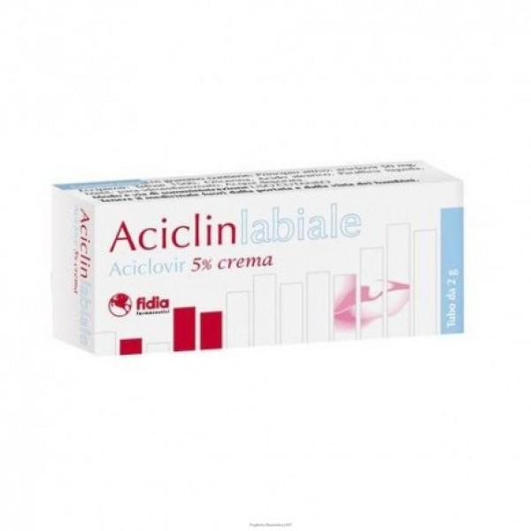 Aciclinlabiale Crema 5% Aciclovir Herpes Tubo 2 grammi
