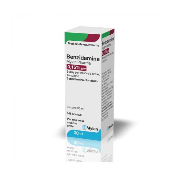 Benzidamina Mylan Spray per Mucosa Orale 30 ml
