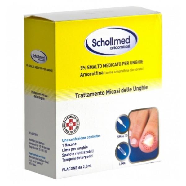 Schollmed Onicomicosi Smalto Medicato + Lima Trattamento Micosi 2,5 ml