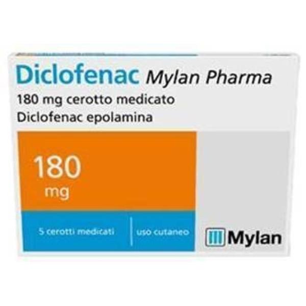 Diclofenac Cerotto Medicato 5 cerotti 180mg