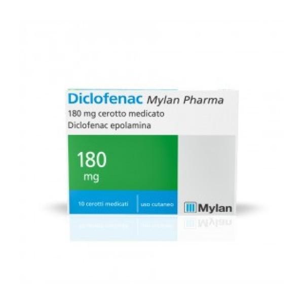 Diclofenac Cerotto Medicato 10 cerotti 180mg