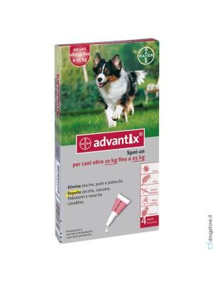 Advantix Spot-On Cani da 10 a 25 kg 4 Pipette Monodose