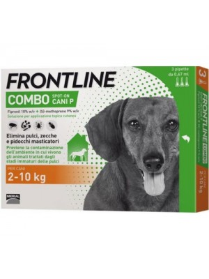 Frontline Combo Soluzione Spot-On Cani Taglia Piccola 2-10 kg 3 Pipette Monodose