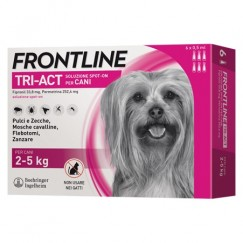 Frontline Tri-Act 3 Pipette Cani 2-5Kg 0,5ml