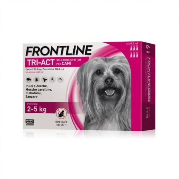 Frontline Tri-Act Soluzione Spot-On Cani 2-5 kg 6 Pipette Monodose