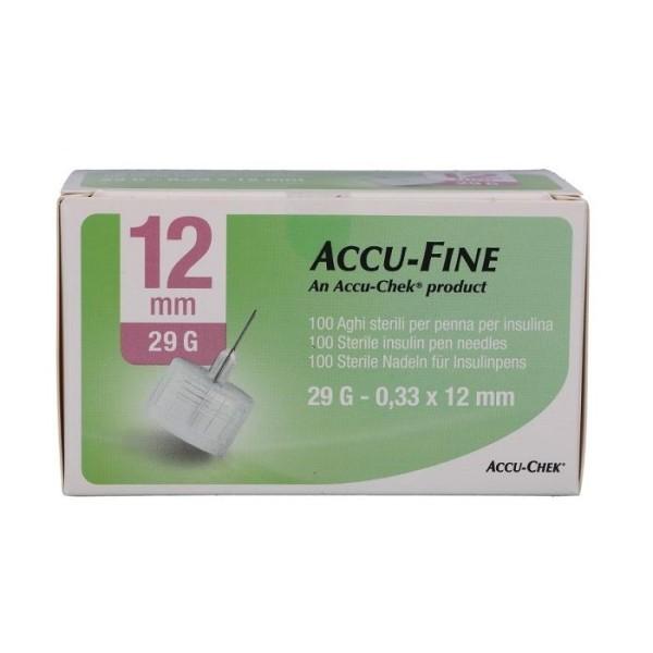Accu-Chek Ago Accu-Fine 29G 12mm Ago per Penna Insulina 100 Pezzi