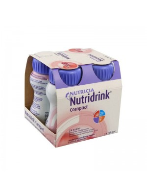Nutridrink Compact Integratore Nutrizionale Gusto Fragola 4 x 125 ml