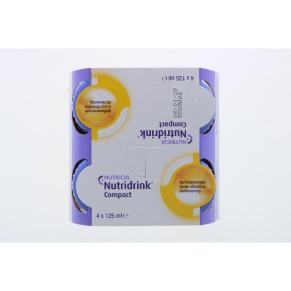 Nutridrink Compact Integratore Nutrizionale Gusto Albicocca 4 x 125 ml