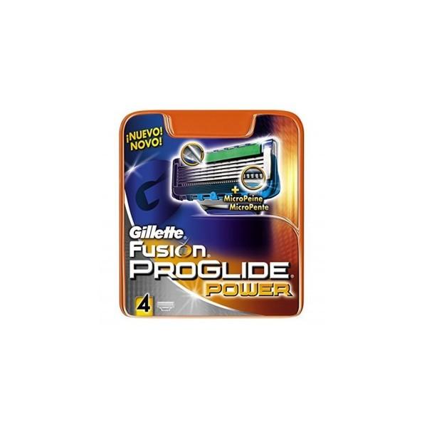 Gillette Fusion Proglide Power Lame di Ricambio per Rasoio 4 Pezzi