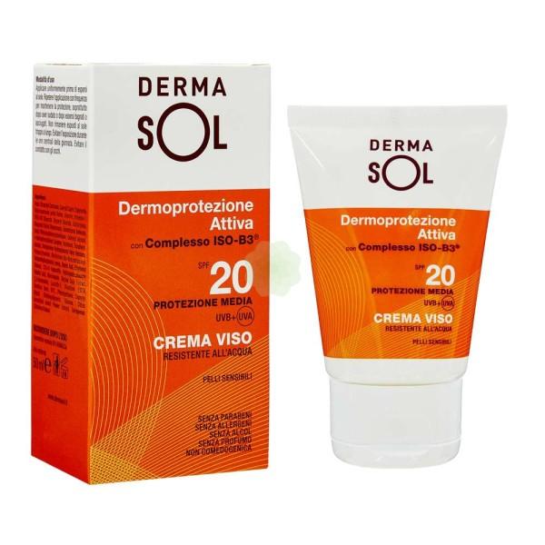 Dermasol Crema Solare SPF 20 Protezione Viso 50 ml