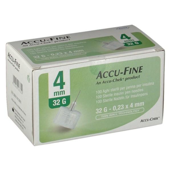 Accu-Chek Ago Accu-Fine 32G 4mm Ago per Penna Insulina 100 Pezzi