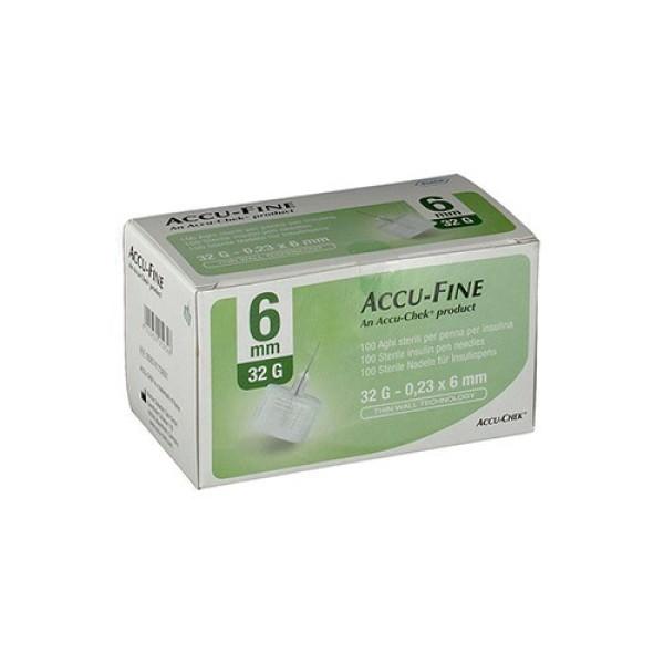 Accu-Chek Ago Accu-Fine 32G 6mm Ago per Penna Insulina 100 Pezzi