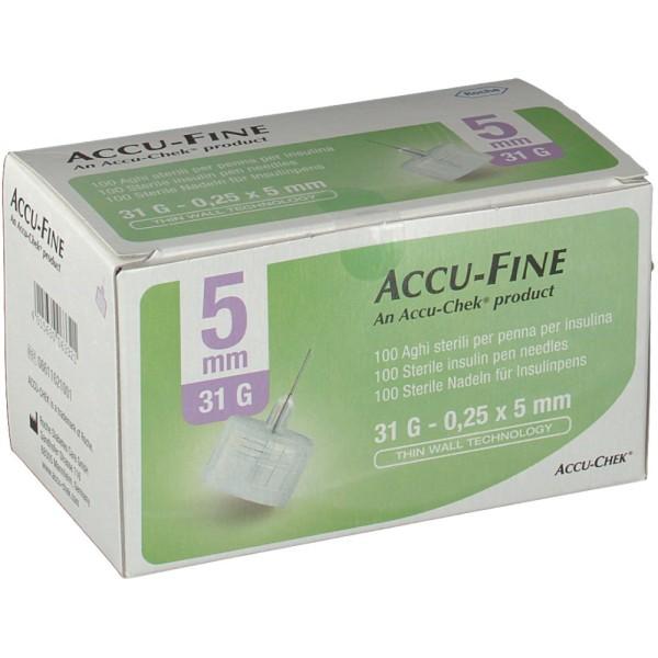 Accu-Chek Ago Accu-Fine 31G 5mm Ago per Penna Insulina 100 Pezzi