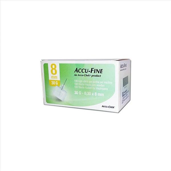 Accu-Chek Ago Accu-Fine 30G 8mm Ago per Penna Insulina 100 Pezzi