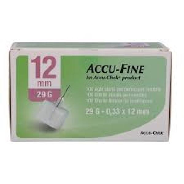 Accu-Chek Ago Accu-Fine 29G 12,7mm Ago per Penna Insulina 100 Pezzi
