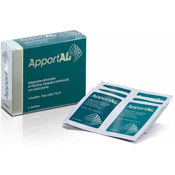 Apportal Integratore di Aminoacidi Vitamine e Minerali 14 Bustine