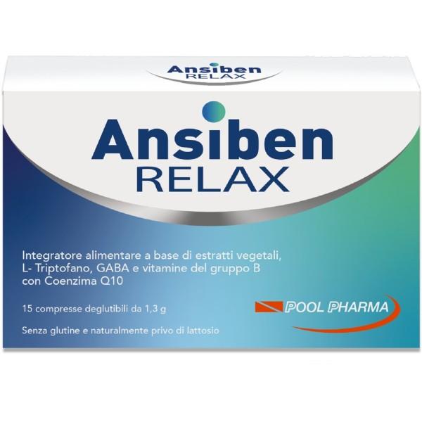Ansiben Relax 15 Compresse - Integratore contro Ansia e Stress