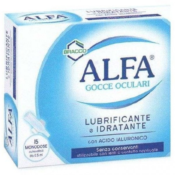 Alfa Gocce Oculari Lubrificanti Idratanti 15 Flaconcini Monodose