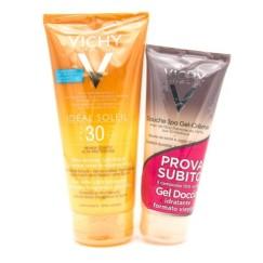 Vichy Ideal Soleil Gel Pelle Bagnata SPF 30 200ml + Omaggio Gel Doccia 75 ml