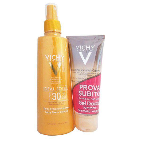 Vichy Ideal Soleil Spray Corpo SPF 30 200ml + Omaggio Gel Doccia 75 ml