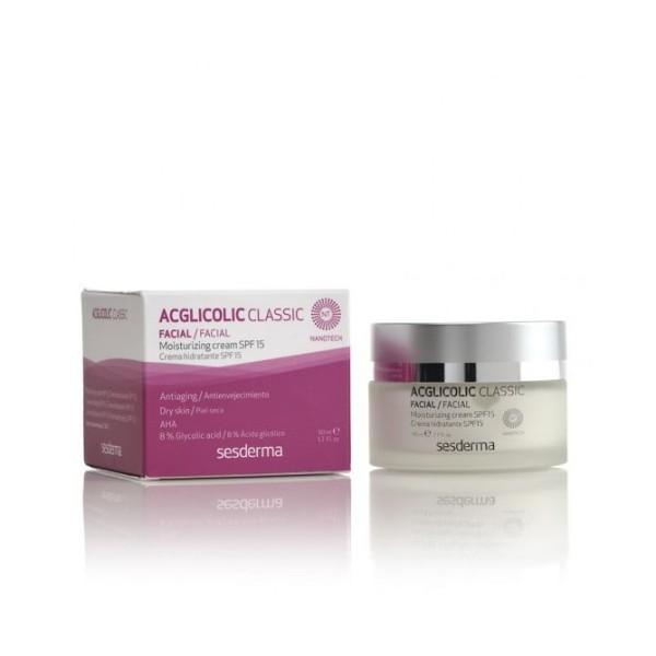 Acglicolic Classic SPF 15 Crema Viso Antiage Idratante 50 ml