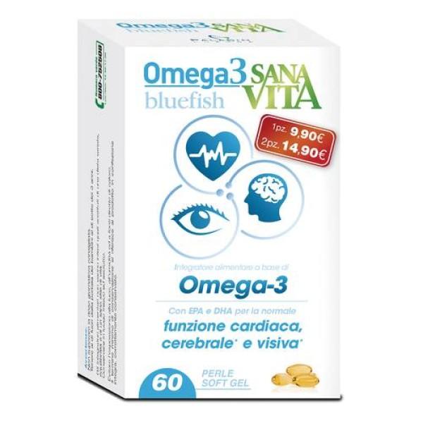Sanavita Omega 3 Bluefish Integratore per Funzione Cardiaca 60 Capsule