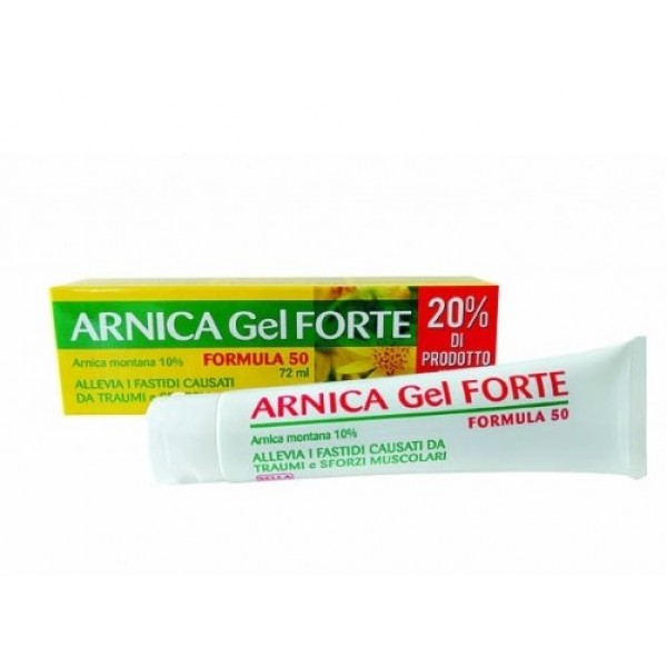 Arnica 10% Gel Forte Formula 50 Gel Lenitivo per Traumi 72 ml