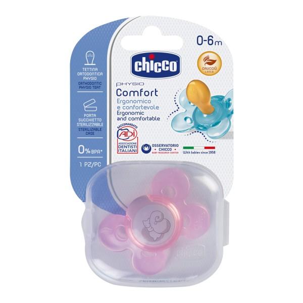 Chicco Succhietto Physio Comfort Silicone Girl  0 - 6 mesi 2 pezzi