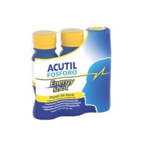 Acutil Fosforo Energy Shot Integratore Alimentare 3 x 60 ml