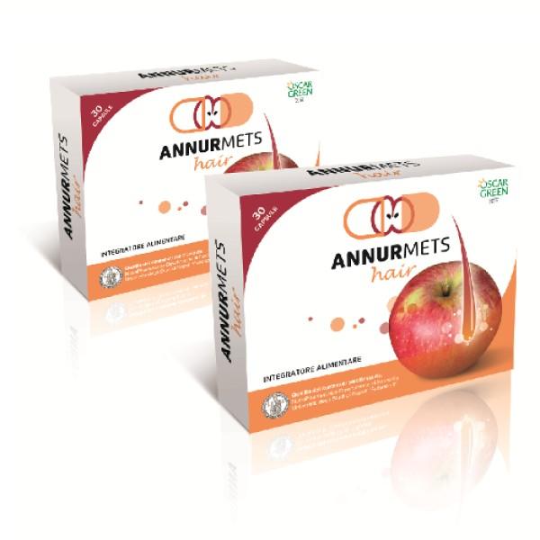 AnnurMets Hair 30 Capsule - Integratore per Capelli con Melannurca