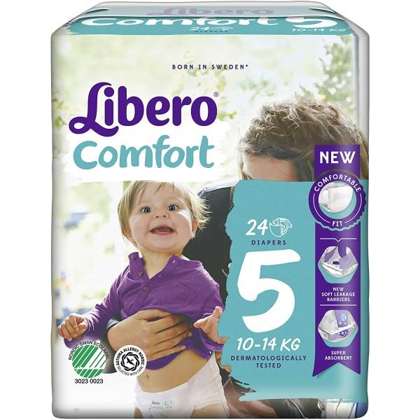 Libero Comfort Pannolini Taglia 5 Junior 40-14 kg 24 Pezzi