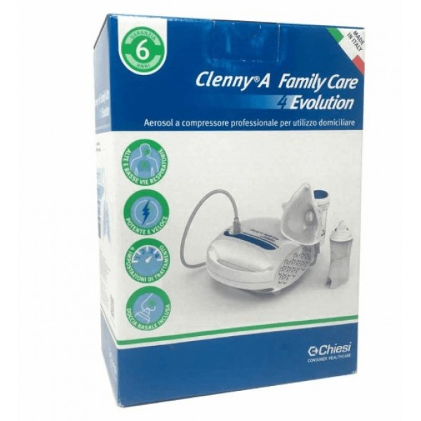 Clenny A Family Care 4 Evolution Aerosol a Compressore Professionale per Utilizzo Domiciliare