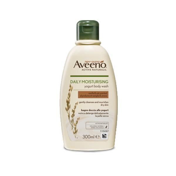 Aveeno Linea Quotidiana Bagno Doccia allo Yogurt al Profumo di Vaniglia e Avena 300 ml