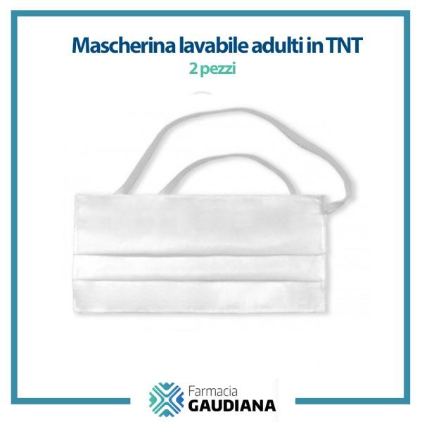 Mascherina Lavabile adulti in TNT Confezione da 2 pezzi