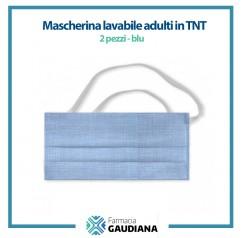 Mascherina Lavabile adulti in TNT colore Blu 2 pezzi