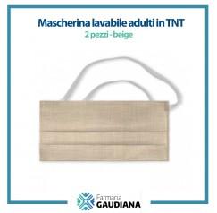 Mascherina Lavabile adulti in TNT colore Beige 2 pezzi