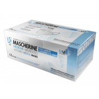 Munusmed Mascherine Chirurgiche Mediche per Adulti Monouso IIR 50 pezzi