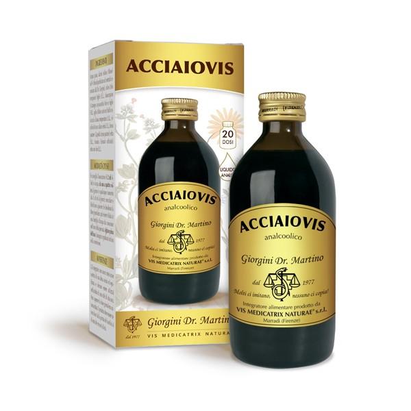 Acciaiovis Liquido Analcolico 200 ml Dr. Giorgini - Integratore Gravidanza