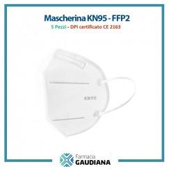 Mascherina Filtrante Antivirus KN95/FFP2 certificata INAIL - confezione da 5 pezzi