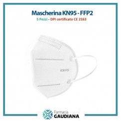 Mascherina Filtrante Antivirus KN95/FFP2 certificata CE 2163 - 5 pezzi