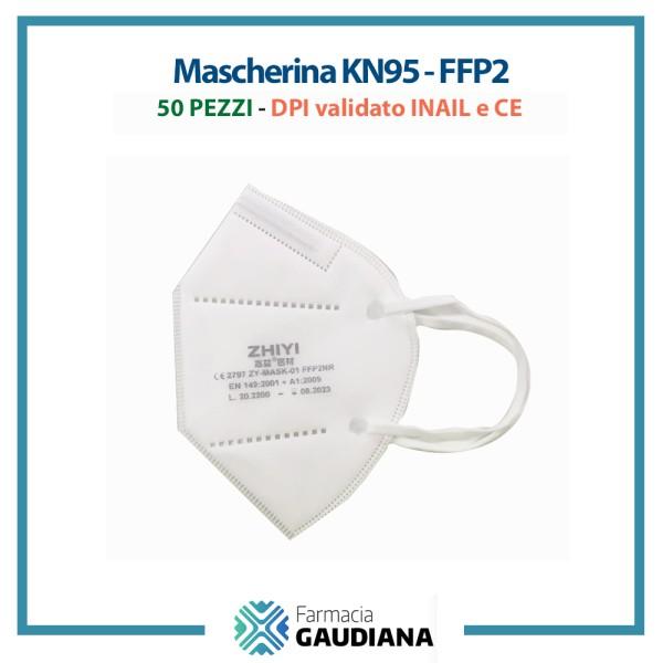 Mascherina FFP2 KN95 Zhiyi distribuite da Surgika Certificata INAIL Confezione 50 pezzi
