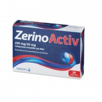 Zerinoactiv influenza e raffreddore 20 compresse da 200mg+30mg