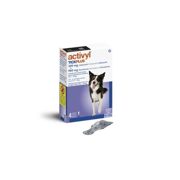 Activyl Tickplus per Cani 10-20 Kg 4 pipette da 2 ml